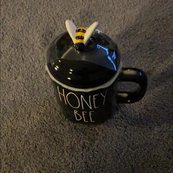 Rae Dunn Honey Bee Mug and Topper NWT